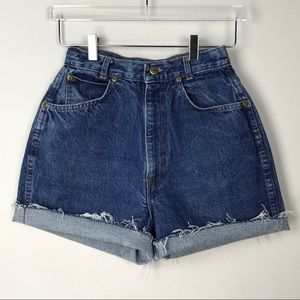 Vintage Chic High Rise Denim Cutoff Shorts